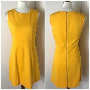DVF Capreena marigold Ponte stretch dress